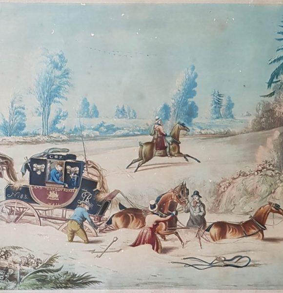 James Pollard - mail coach in snow